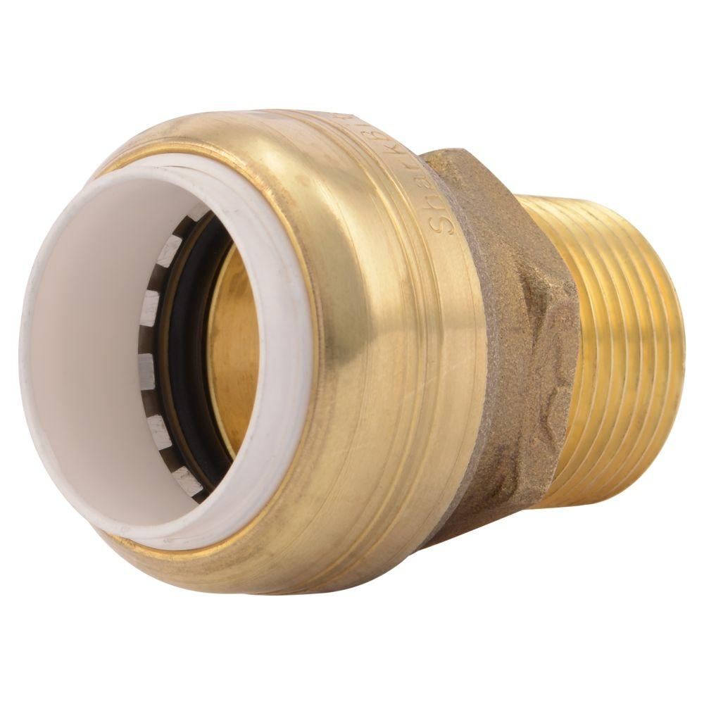Sharkbite in brass push to connect pvc ips