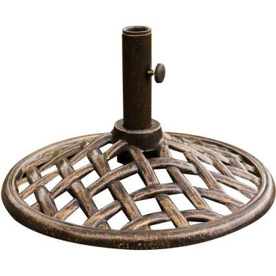 Iron Umbrella Base in Bronze