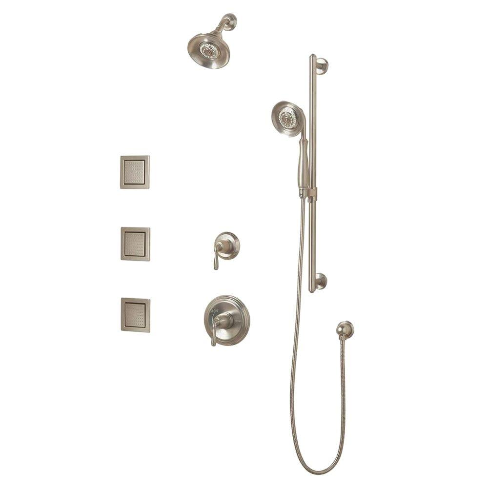 KOHLER Devonshire Luxury Performance Showering Package in Vibrant Brushed Nickel-DISCONTINUED