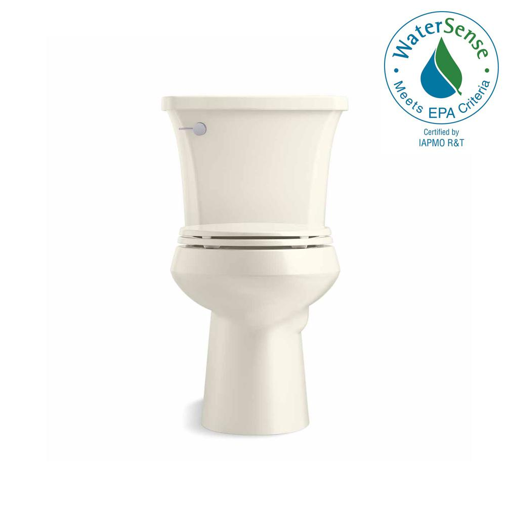 KOHLER Highline Arc The Complete Solution 2-piece 1.28 GPF Single Flush Elongated Toilet in Biscuit, Seat Included (3-Pack)