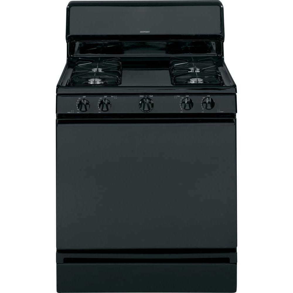 Hotpoint 4.8 cu. ft. Gas Range in Black