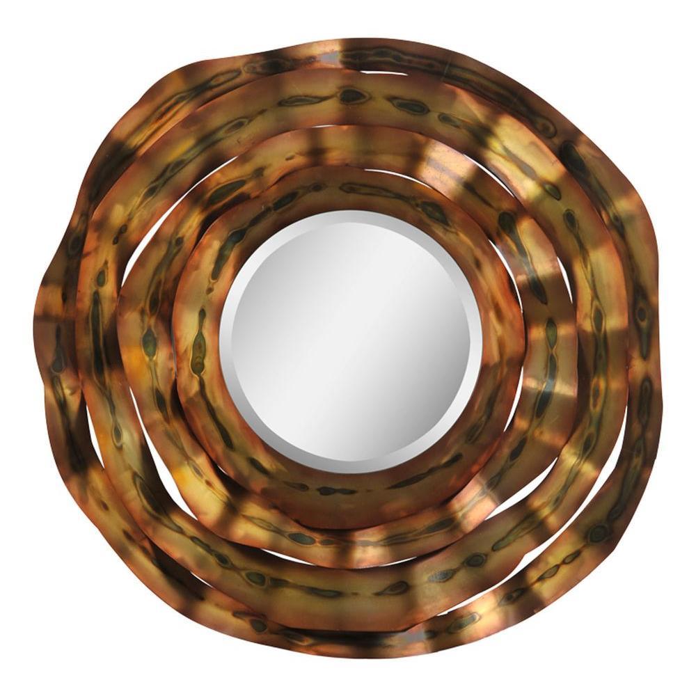 Ren-Wil Luna 41 in. x 41 in. Oxidized Bronze Mirror