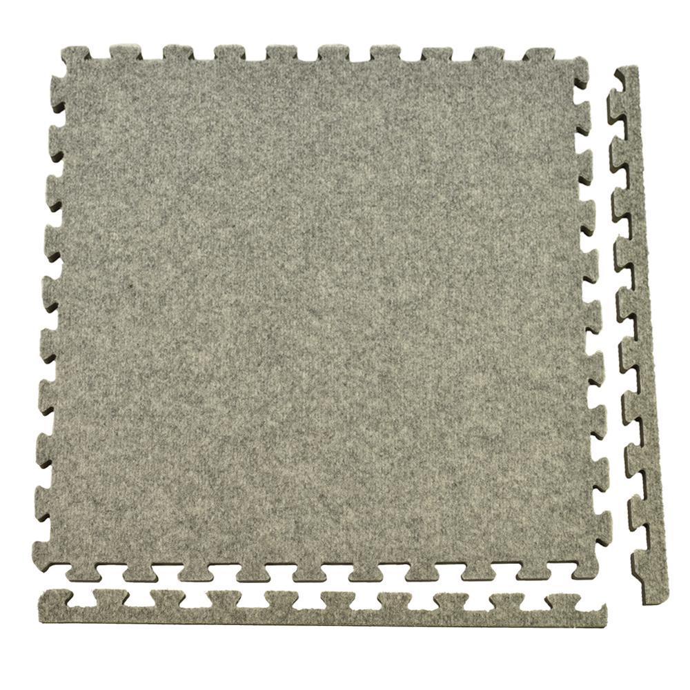 Greatmats Royal Carpet Light Gray Velour Plush 2 Ft. X 2
