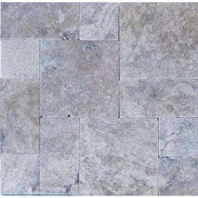 Silver Pattern 16 in. x 24 in. Tumbled Travertine Paver Kit (10 Kits / 160 Sq. ft. / Pallet)