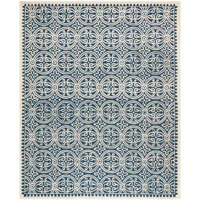 Cambridge Navy Blue/Ivory 8 ft. x 10 ft. Area Rug