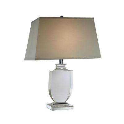 Regina 24.5 in. Chrome Table Lamp
