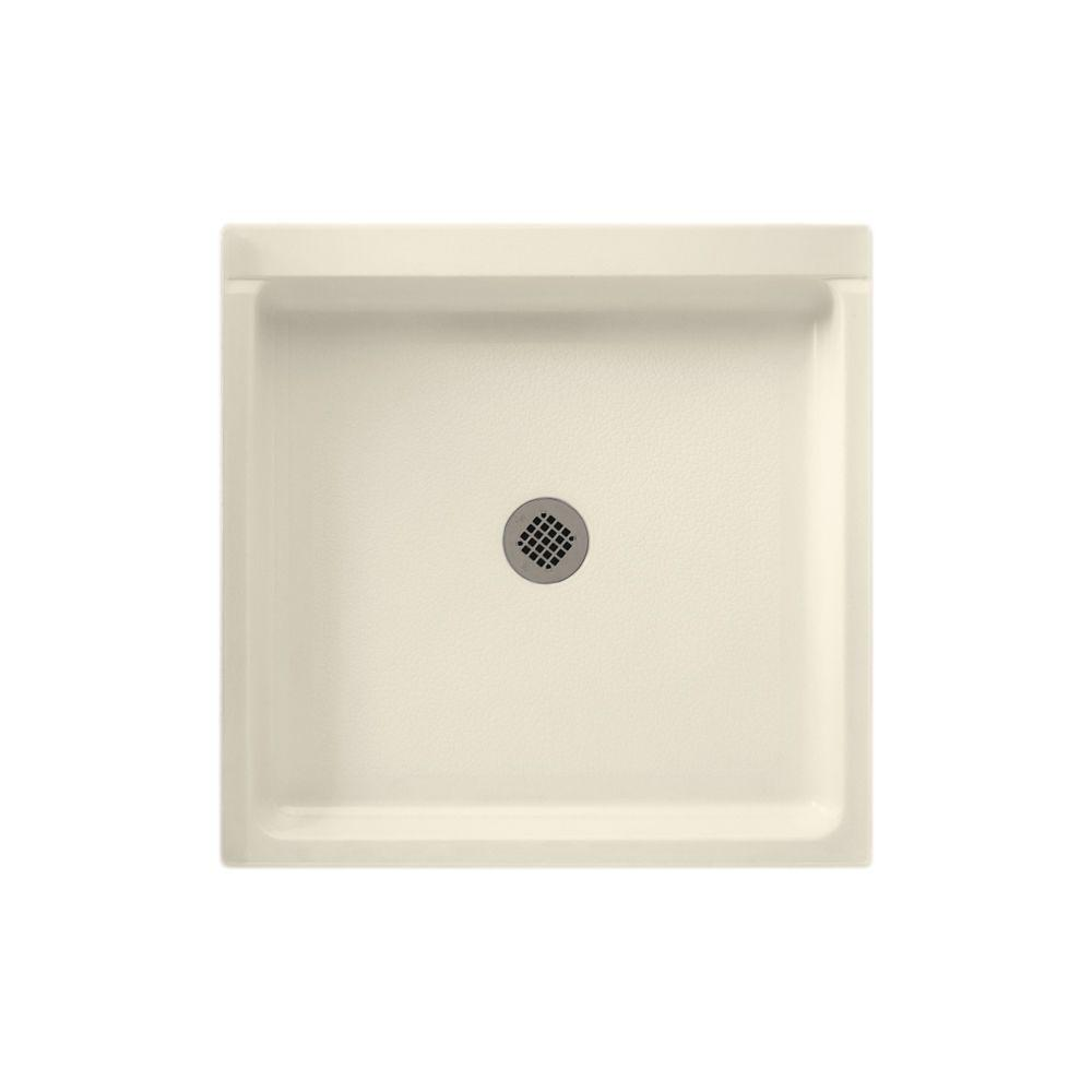 Swan 32 in. x 32 in. Solid Surface Single Threshold Shower Floor in Bone