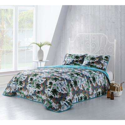 Havana 3-Piece Multi Queen Quilt Set