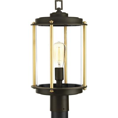 Laine Collection 1-Light Outdoor Architectural Bronze Post Lamp