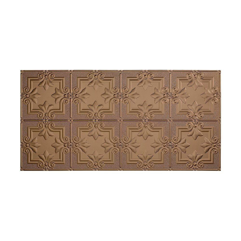 Regalia 2 ft. x 4 ft. Glue-up Ceiling Tile in Argent Bronze