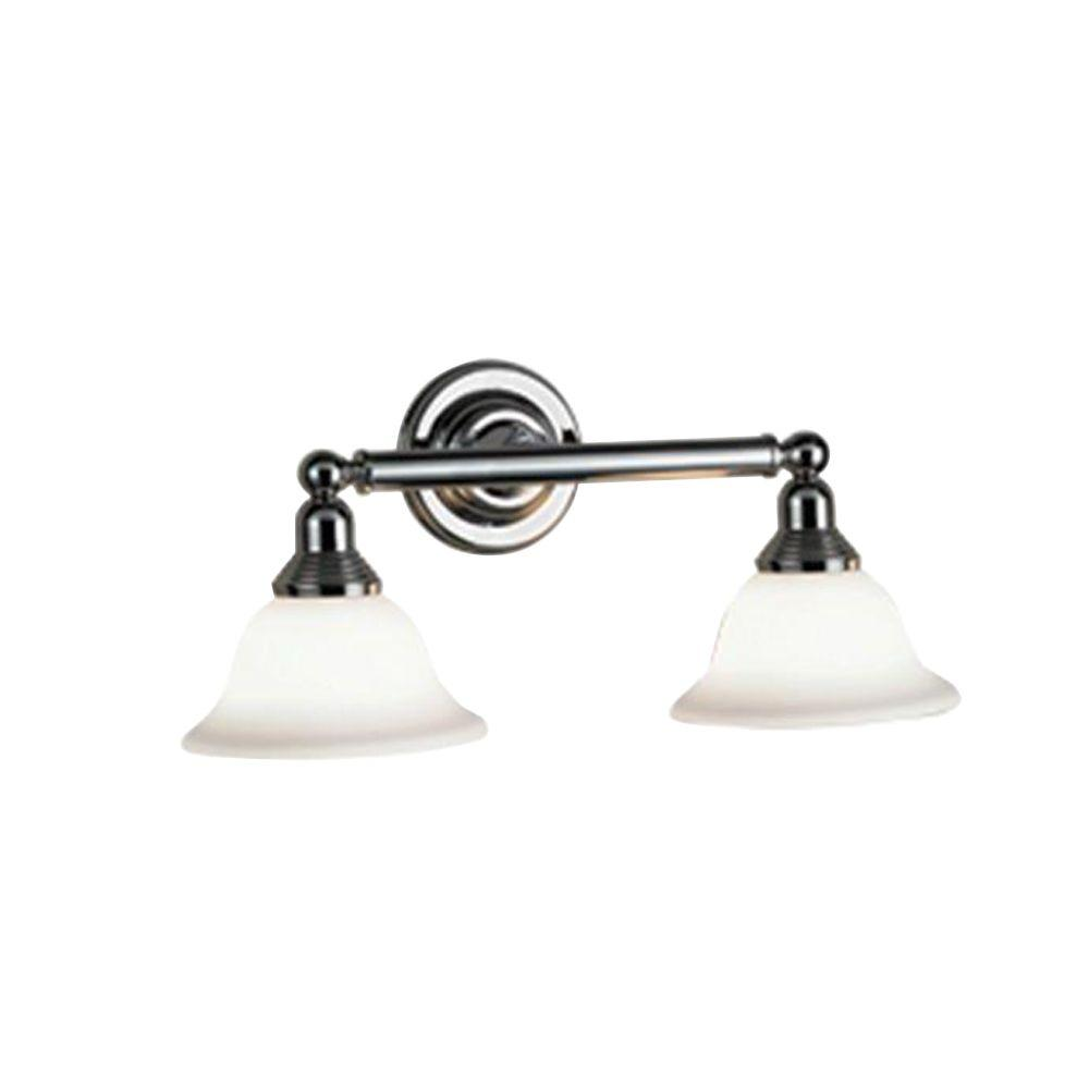 Eurofase Diana Collection 2-Light Polished Chrome Wall Sconce-DISCONTINUED