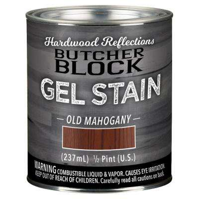 1/2-Pint Old Mahogany Oil-Based Satin Interior Butcher Block Wood Gel Stain