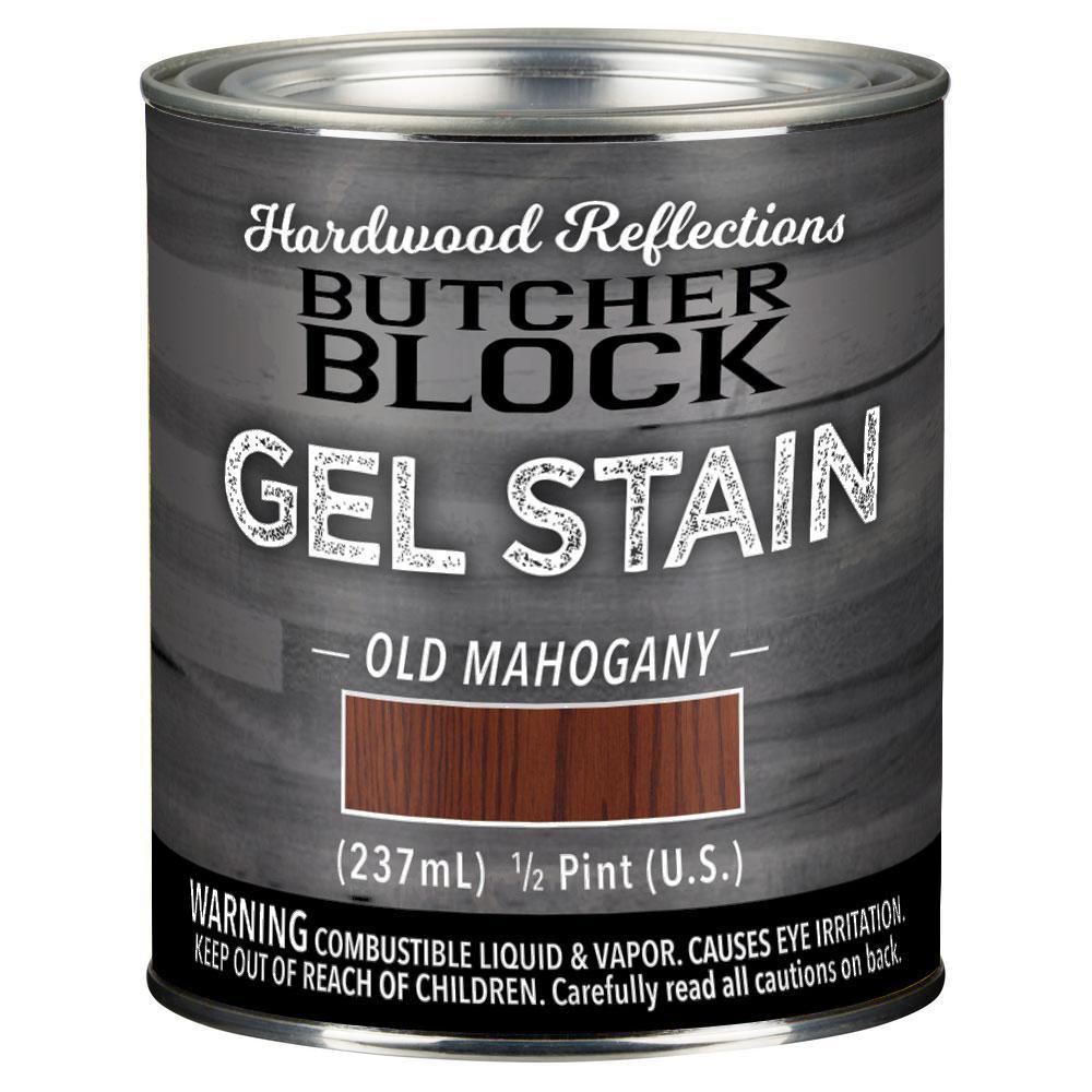 Hardwood Reflections 1/2-Pint Old Mahogany Oil-Based Satin Interior Butcher Block Wood Gel Stain