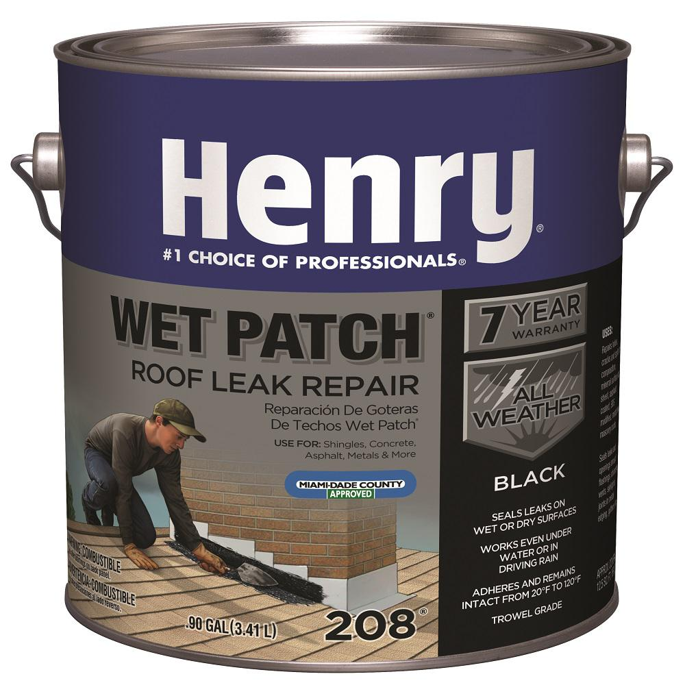Henry Henry 208 Wet Patch Roof Cement Leak Repair 0 90 Gallon He208142 The Home Depot