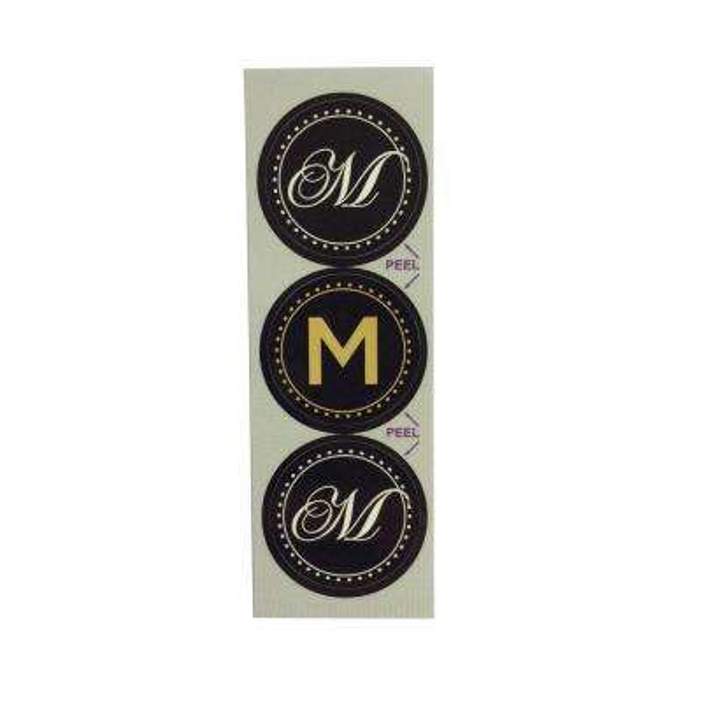 M Monogram Decorative Bathroom Sink Stopper Laminates (Set of 3)