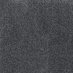 Peel and Stick Inspirations Smoke Ribbed 18 in. x 18 in. Residential Carpet Tile (16 Tiles/Case)