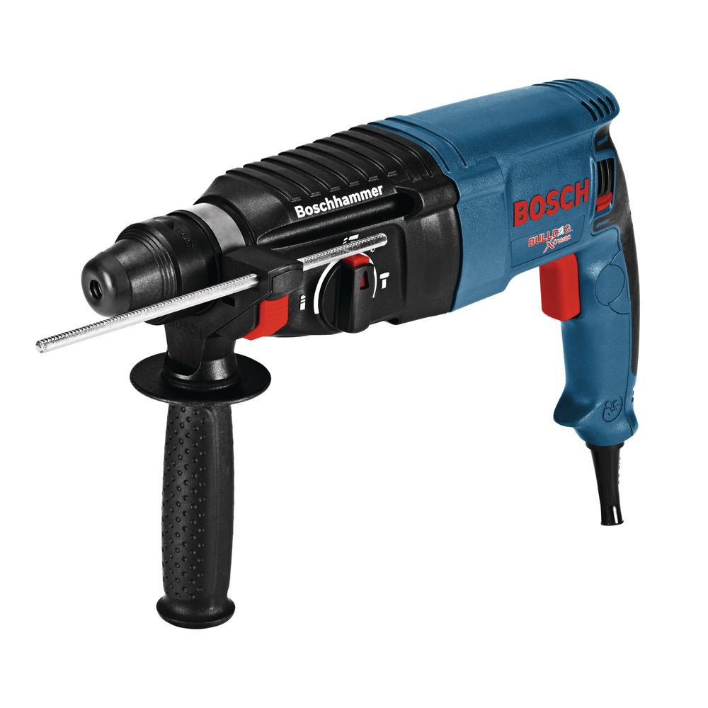 bosch 8 amp corded 1 in sds plus bulldog xtreme variable speed rotary hammer with auxiliary. Black Bedroom Furniture Sets. Home Design Ideas