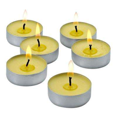 Mosquito Repellent Citronella Yellow Tealight Candles with (Set of 50)