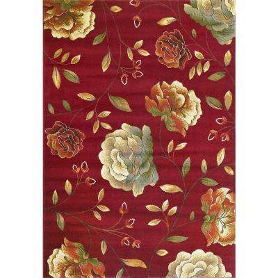 Lifestyles Red Capri 2 ft. x 3 ft. Area Rug