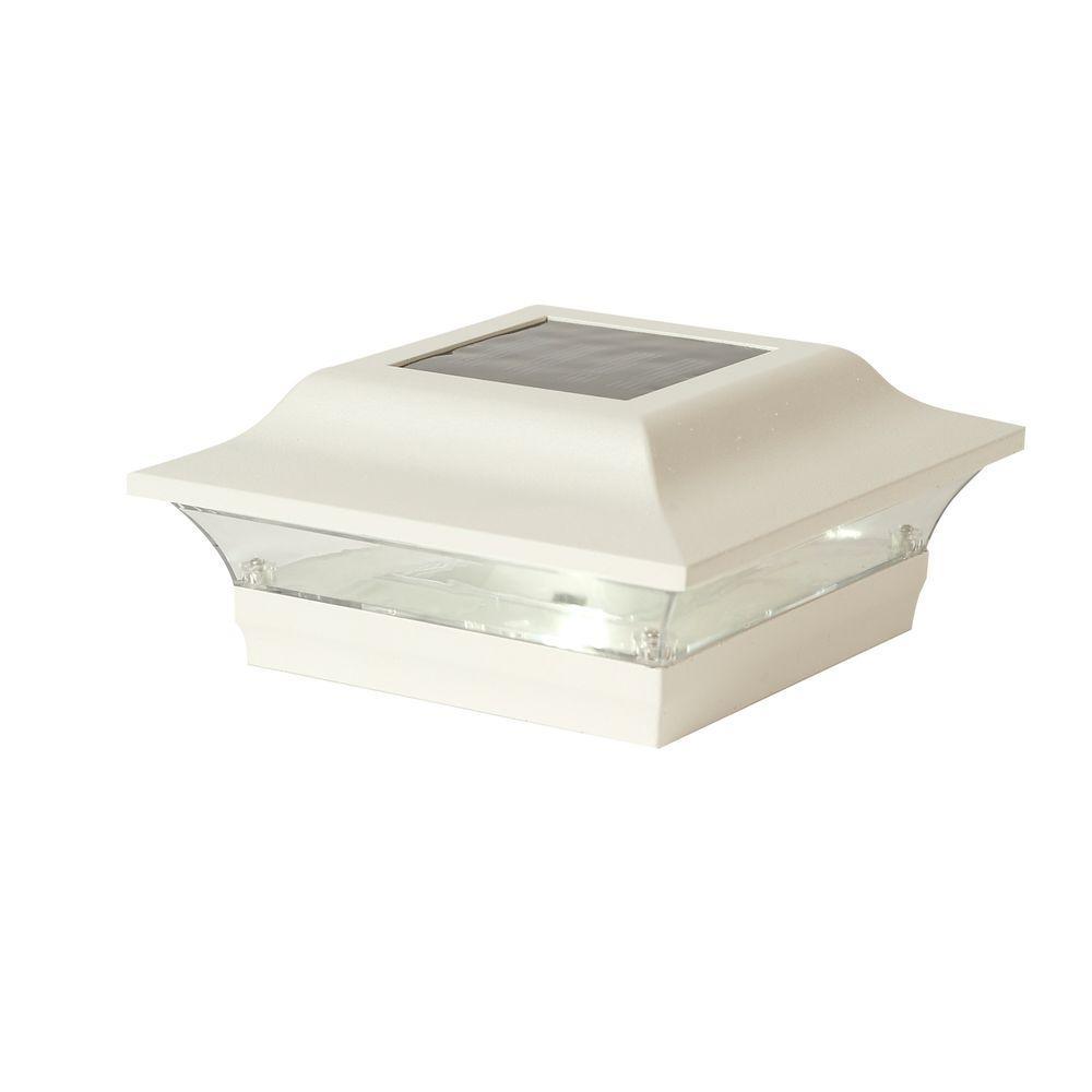 Classy Caps 4 In X 4 In White Aluminum Imperial Outdoor