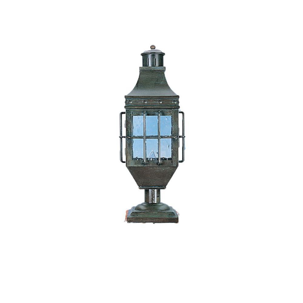 1-Light 25 in. Matte Bronze Outdoor Lantern