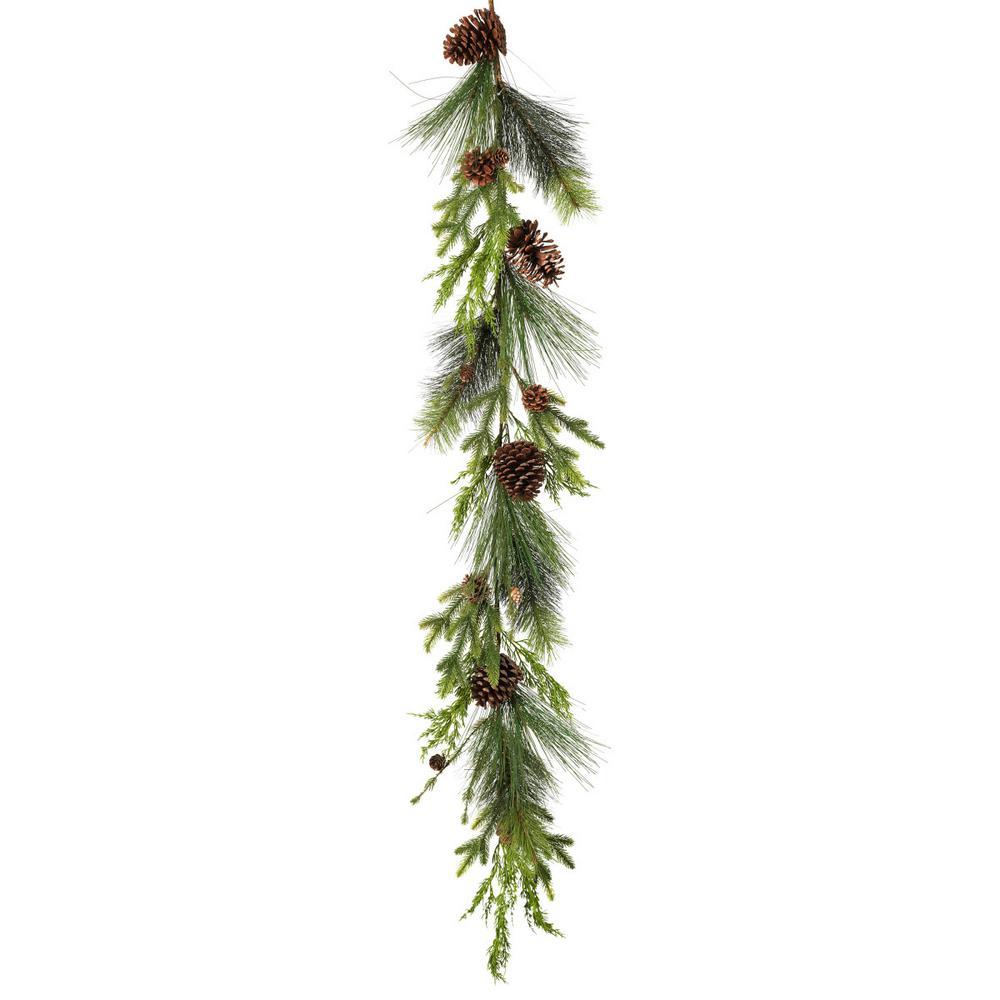Gerson 5 ft. Pine Garland with Pine Cones-2433520EC - The Home Depot