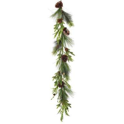 5 ft. Pine Garland with Pine Cones