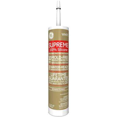 Supreme Silicone 10.1 oz. White Kitchen and Bath Caulk