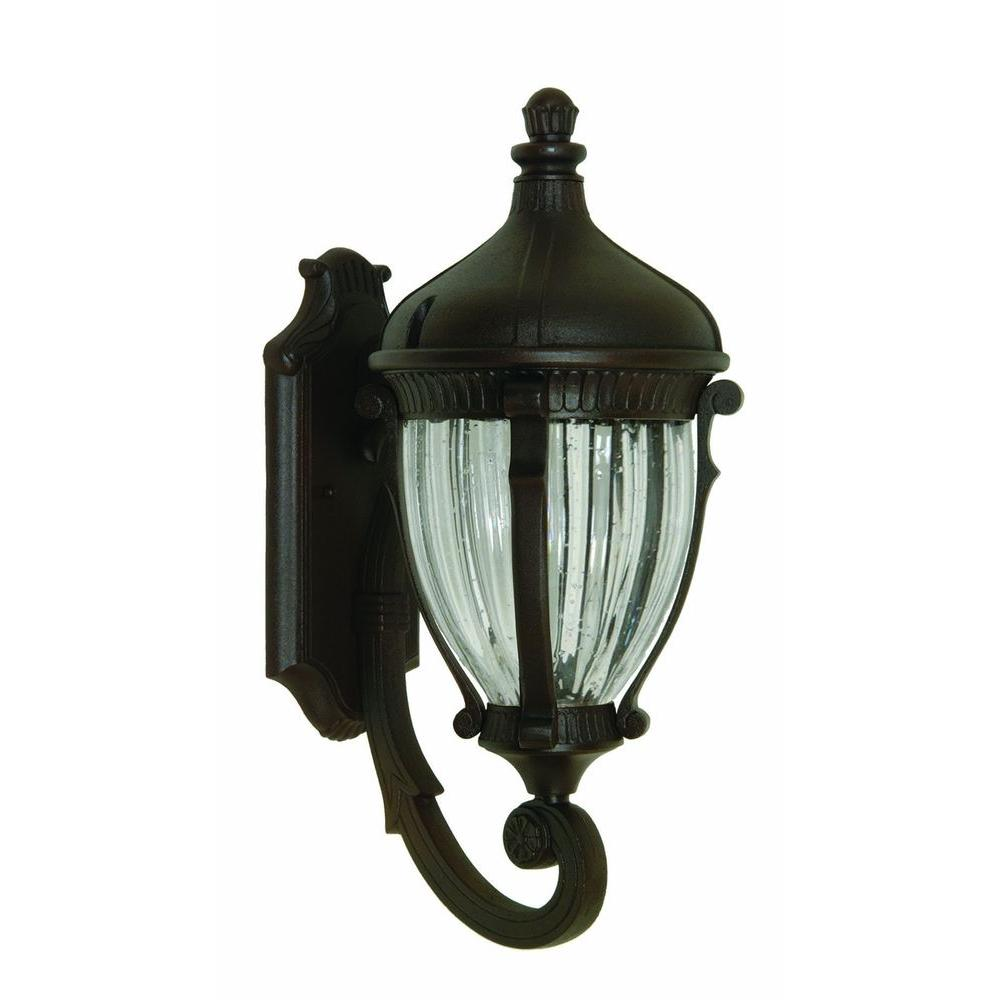 Kahley 4-Light Oil Rubbed Bronze Outdoor Wall Lantern