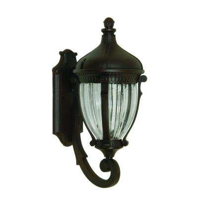 Kahley 4-Light Oil Rubbed Bronze Outdoor Wall Lantern Sconce