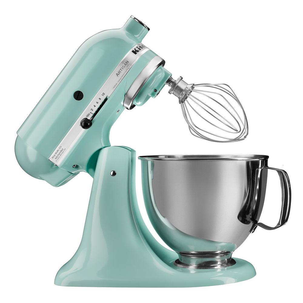 KitchenAid Artisan 5 Qt. Ice Blue Stand Mixer-KSM150PSIC - The Home on