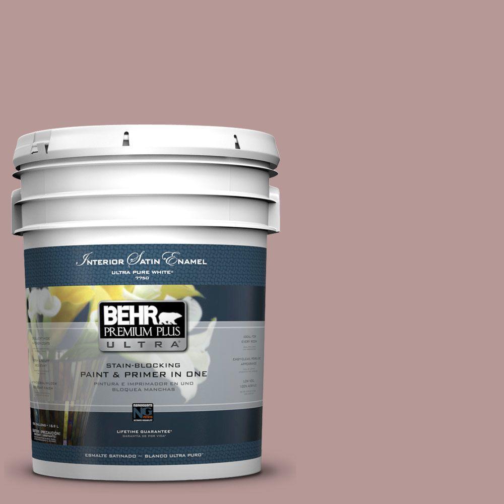 BEHR Premium Plus Ultra 5-gal. #130F-4 Fond Memory Satin Enamel Interior Paint