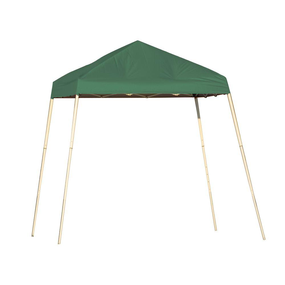 ShelterLogic Sports Series 8 ft. x 8 ft. Green Slant Leg Pop-Up  sc 1 st  Home Depot : 8 foot canopy - memphite.com