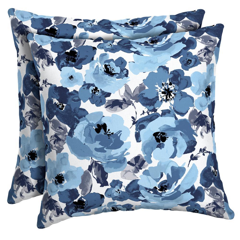Arden Selections 16 x 16 Garden Delight Square Outdoor Throw Pillow (2-Pack)