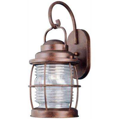 Beacon 1-Light Gilded Copper Large Wall Lantern