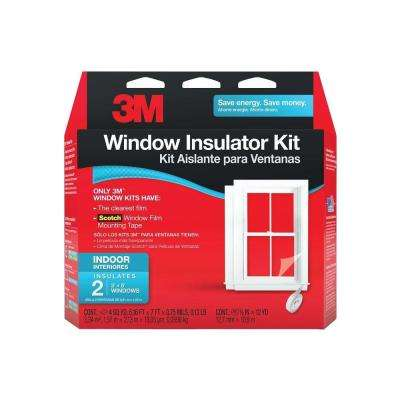 62 in. x 84 in. Clear Plastic Indoor Window Kit