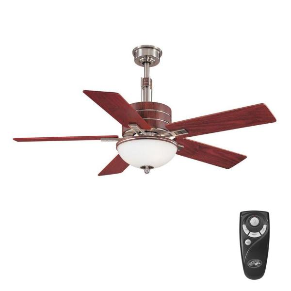 Carlsbad 52 in. Indoor Brushed Nickel Ceiling Fan with Light Kit and Remote Control