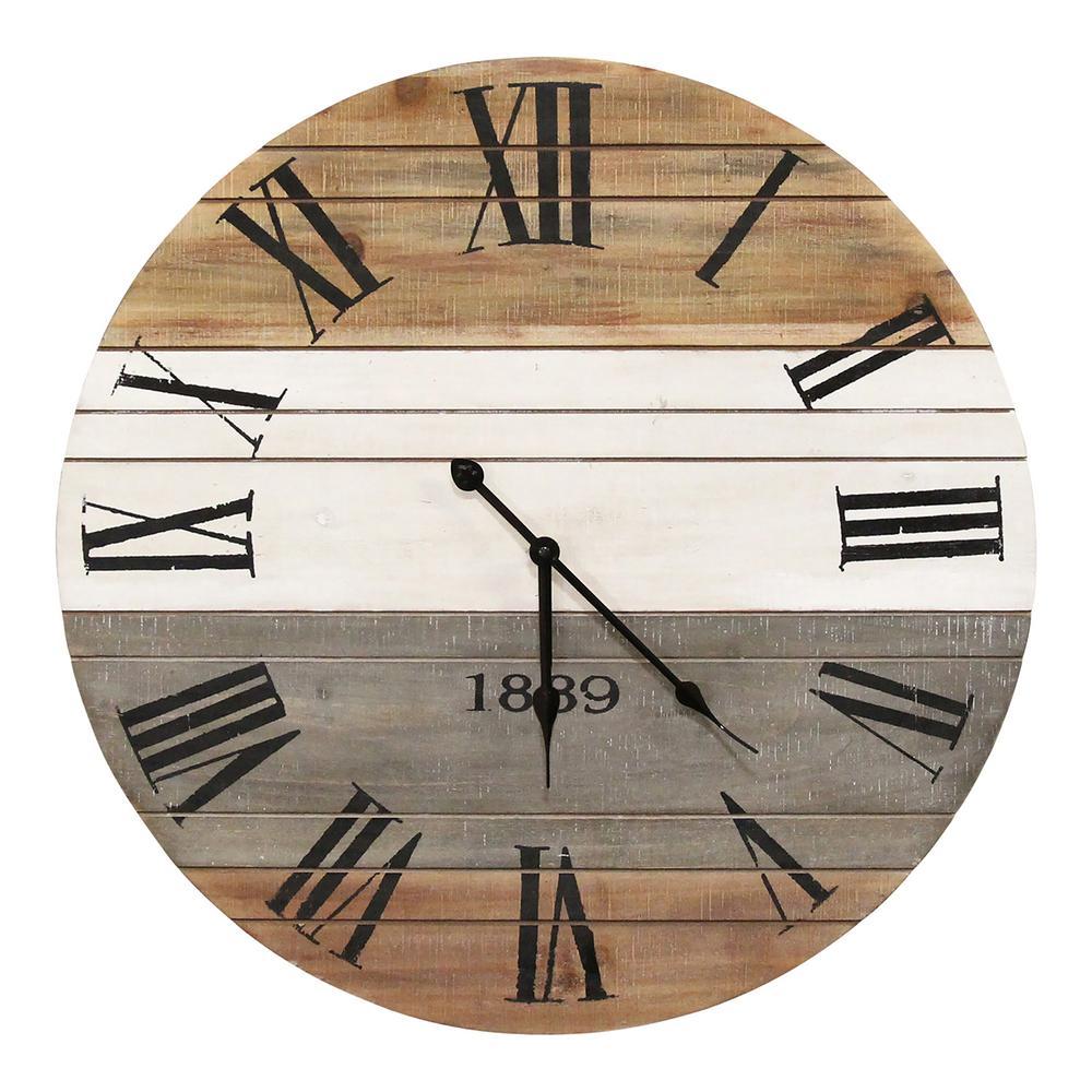 Stratton Home Decor 21 Winston Wall Clock S23725 The Home Depot