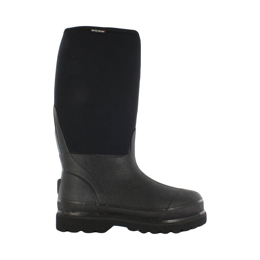 Rancher Men 16 in. Size 11 Black Rubber with Neoprene Waterproof Boot