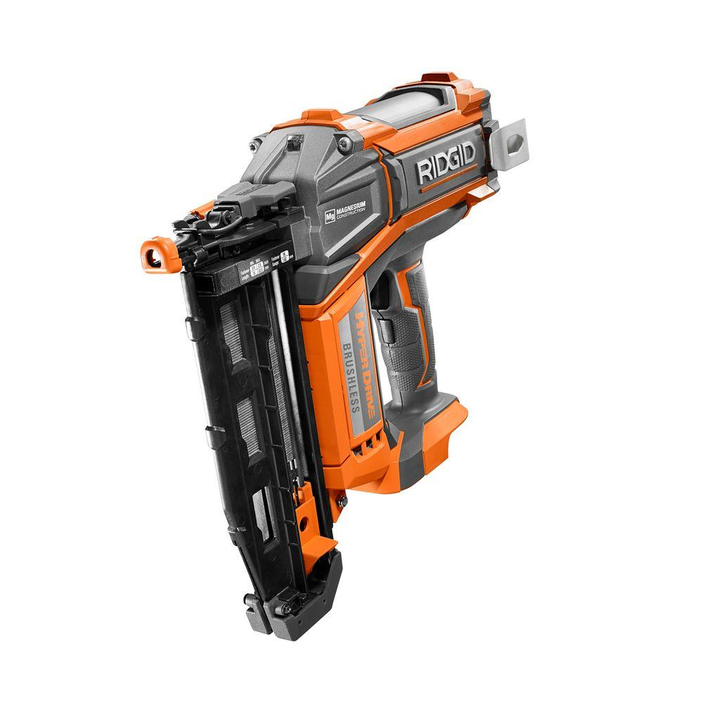 RIDGID HYPERDRIVE 18-Volt Brushless 16-Gauge 2-1/2 in. Straight ...