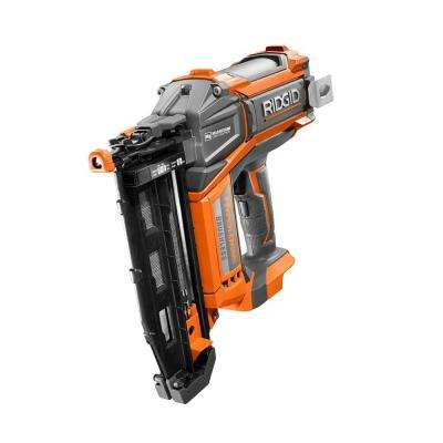 18-Volt Cordless Brushless HYPERDRIVE 16-Gauge 2-1/2 in. Straight Finish Nailer(Tool Only), Belt Clip, Bag, Sample Nails