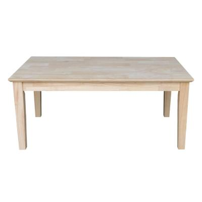 42 in. Unfinished Large Rectangle Wood Coffee Table