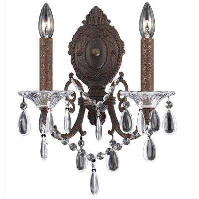 Paris 2-Light Bronze Sconce