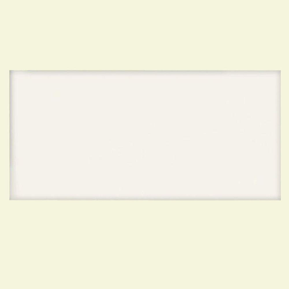 U.S. Ceramic Tile Color Collection Bright White Ice 3 in. x 6 in. Ceramic Wall Tile (10.00 sq. ft. / case)-DISCONTINUED