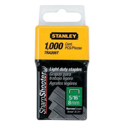5/16 in. Leg 1 in. Crown 1/2-Gauge Galvanized Steel Light-Duty Staples (1,000-Pack)