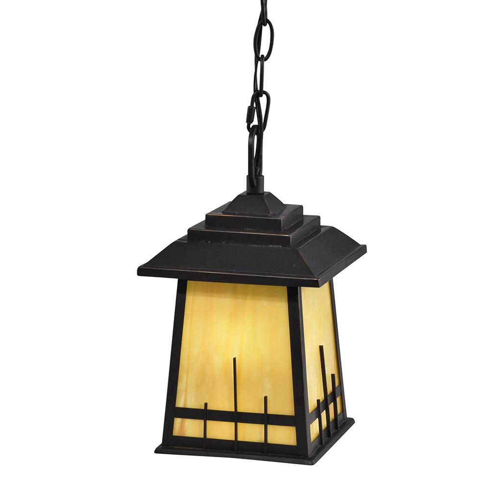 Clyde 1 Light Oil Rubbed Bronze Outdoor Hanging Pendant