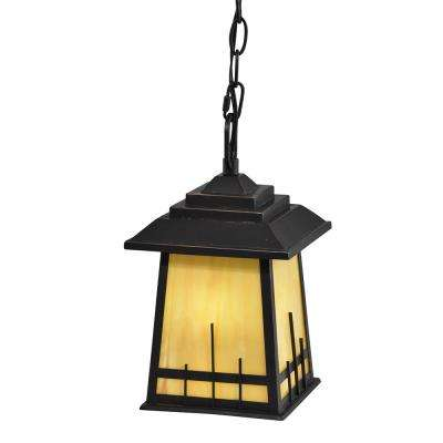Clyde 1-Light Oil Rubbed Bronze Outdoor Hanging Pendant