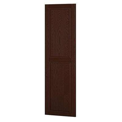 Solid Oak Side Panel for 24 in. D Executive Wood Locker in Dark Oak