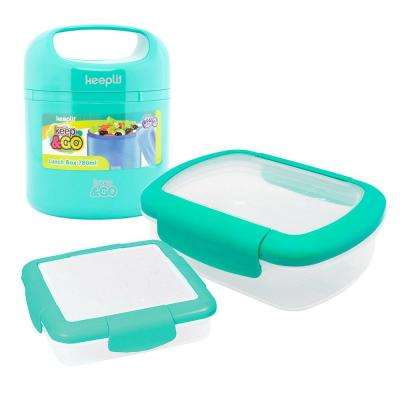 3-Piece Food Storage Container Assorted Pack in Aqua