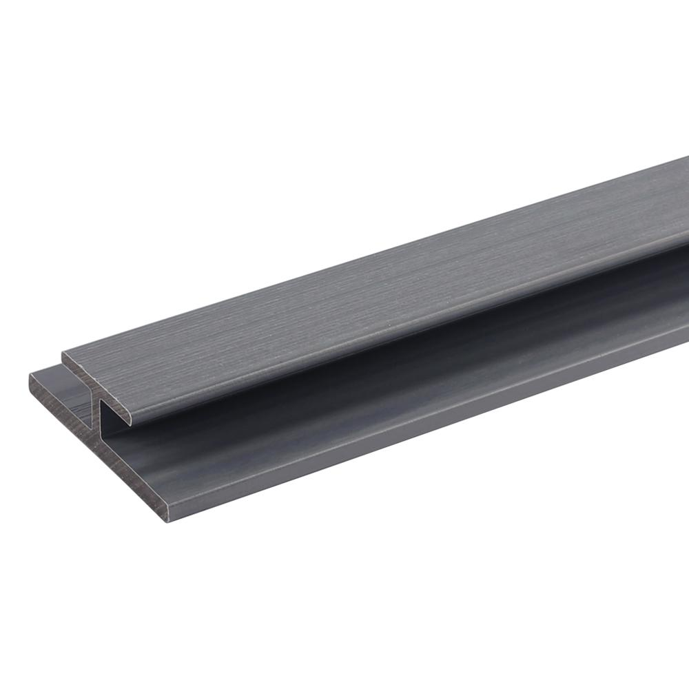 NewTechWood All Weather System 3.1 in. x 1.0 in. x 8 ft. Composite Siding Butt Joint Trim in Westminster Gray Board